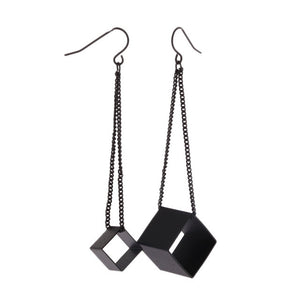 Cube Drop Earrings