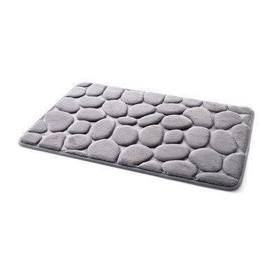 Coral Fleece Bathroom Non-Slip Memory Foam Rug