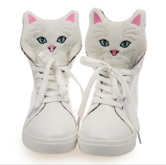 Lace Up Cat Shoes