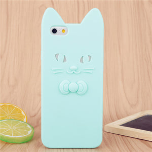 Cat and Bow iPhone Case