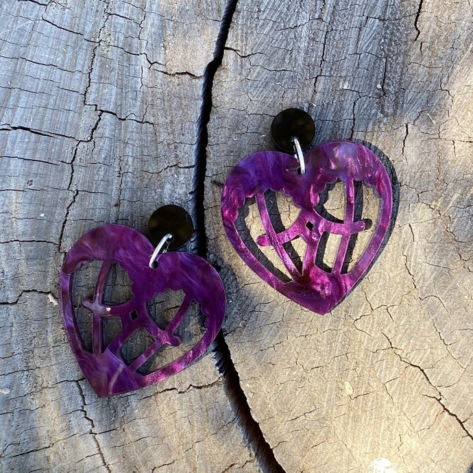 AMELIA HEART EARRINGS