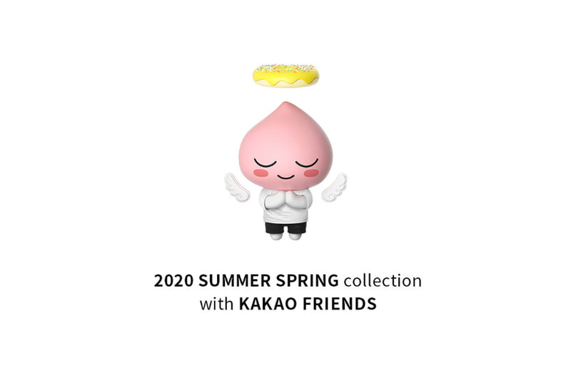 KAKAO X ADLV BACK ANGEL APEACH S/S WHITE