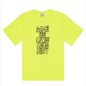 SPRAY LOGO SHORT SLEEVE NEON YELLOW