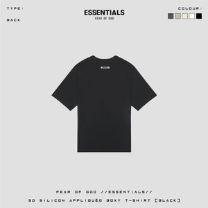 FOG ESSENTIAL 3D Silicon Applique Boxy Tee/ BLACK