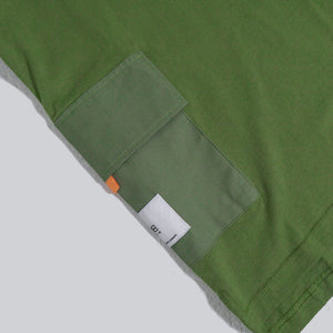 MIL UTILITY 2 POCKETS TEE SS OLIVE GREEN. 01