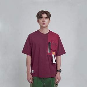 MIL REFLECTIVE ZIP POCKET SS MAROON. 01