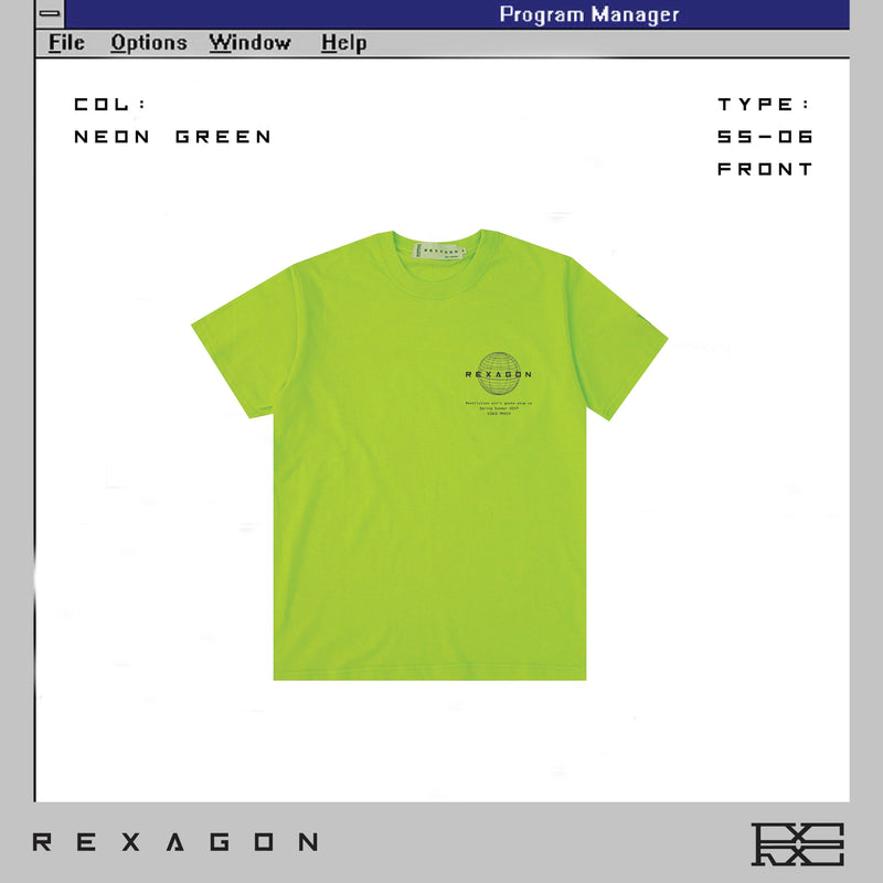 Rexagon Info Tee - Neon Green