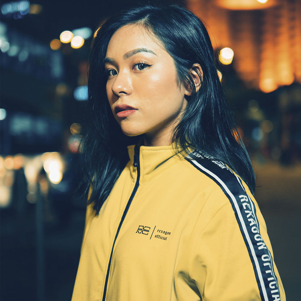 Caution Track Jacket (Lime Green)