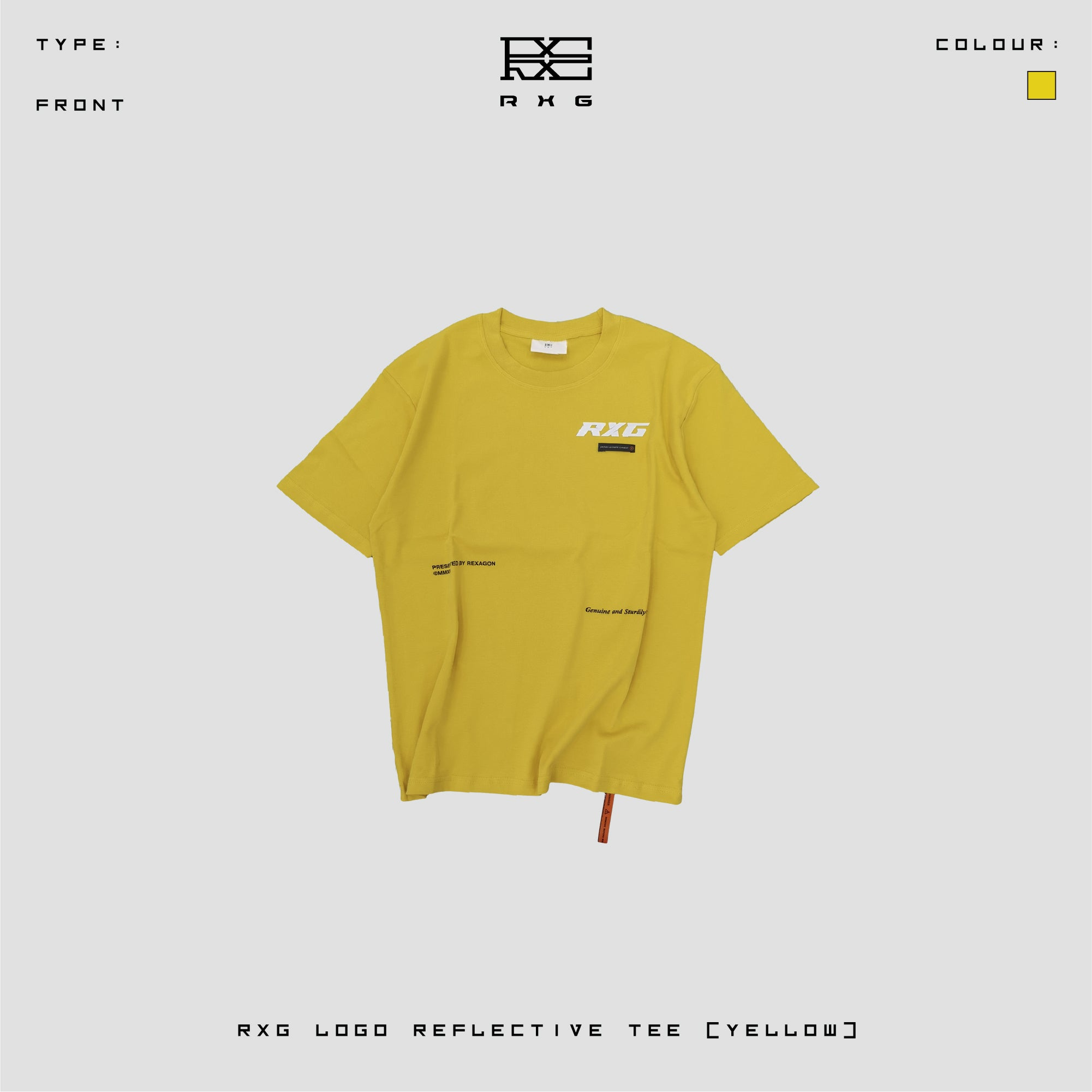 RXG TYPE R REFLECTIVE TEE (YELLOW)