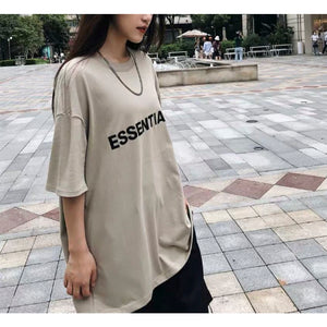FOG ESSENTIAL 3D Silicon Applique Boxy Tee/ Tan
