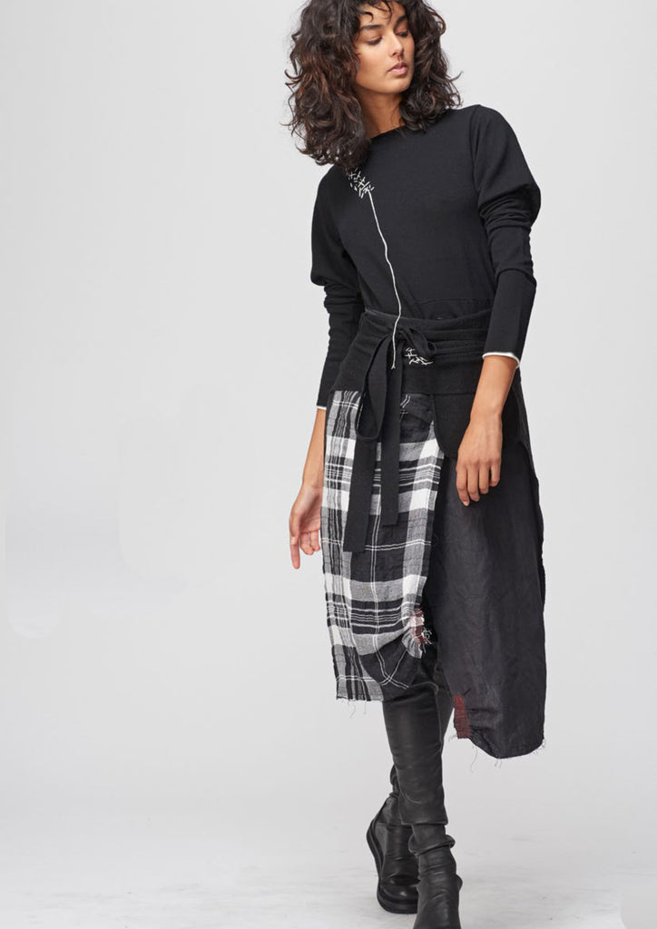Wrap Skirt in Big Check