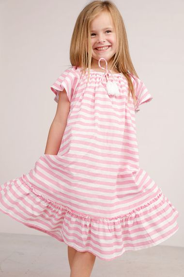 Penelope Dress in Pink Stripe