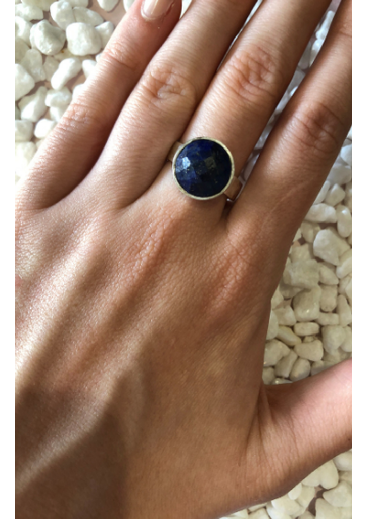 Lapis Adjustable Ring