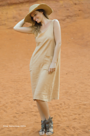 Tramontane Dress in Camel