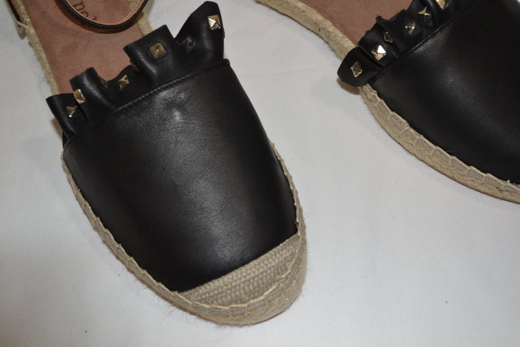 Stud Espadrilles in Black