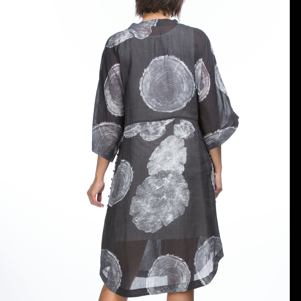 Fossil Print Shirtdress