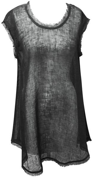 Sleeveless Gauze Tunic - Black