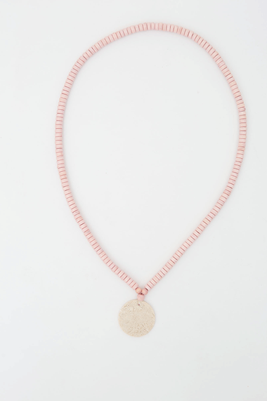 Jersey Circle Necklace - Blush
