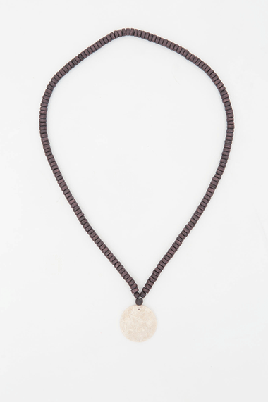 Jersey Circle Necklace - Choc