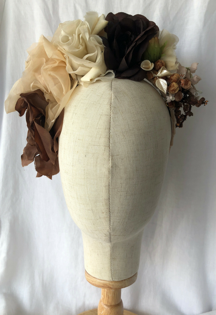 Bespoke Headpiece 'Coffee'