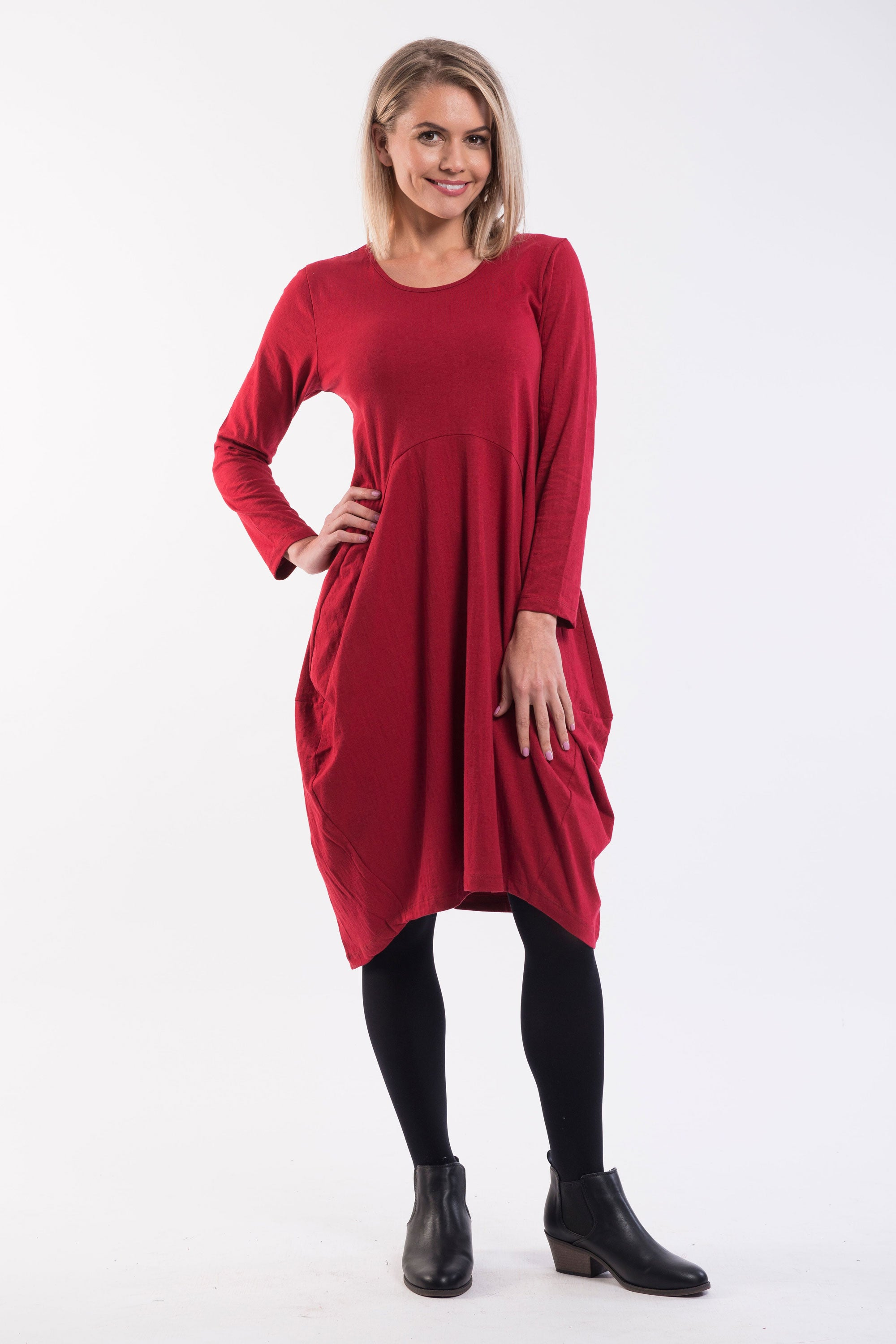Essential Bubble Dress - Red