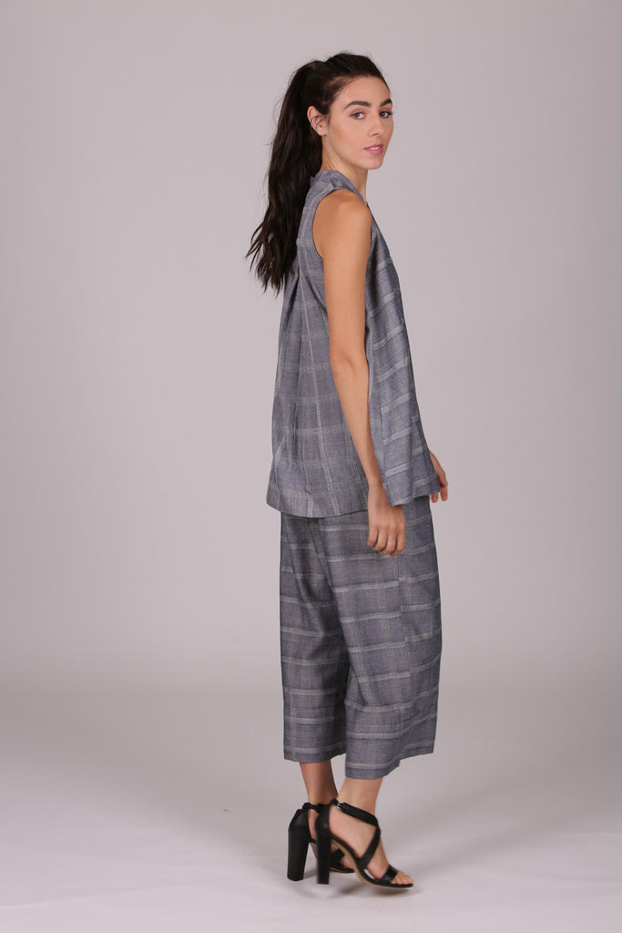 Josie Tank - Chambray Check