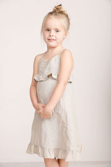 Jemima Dress in Natural Linen