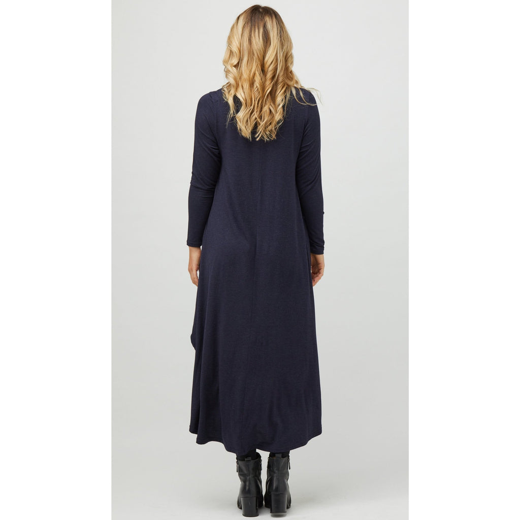 Long Sleeve Tri Dress in Midnight Marle