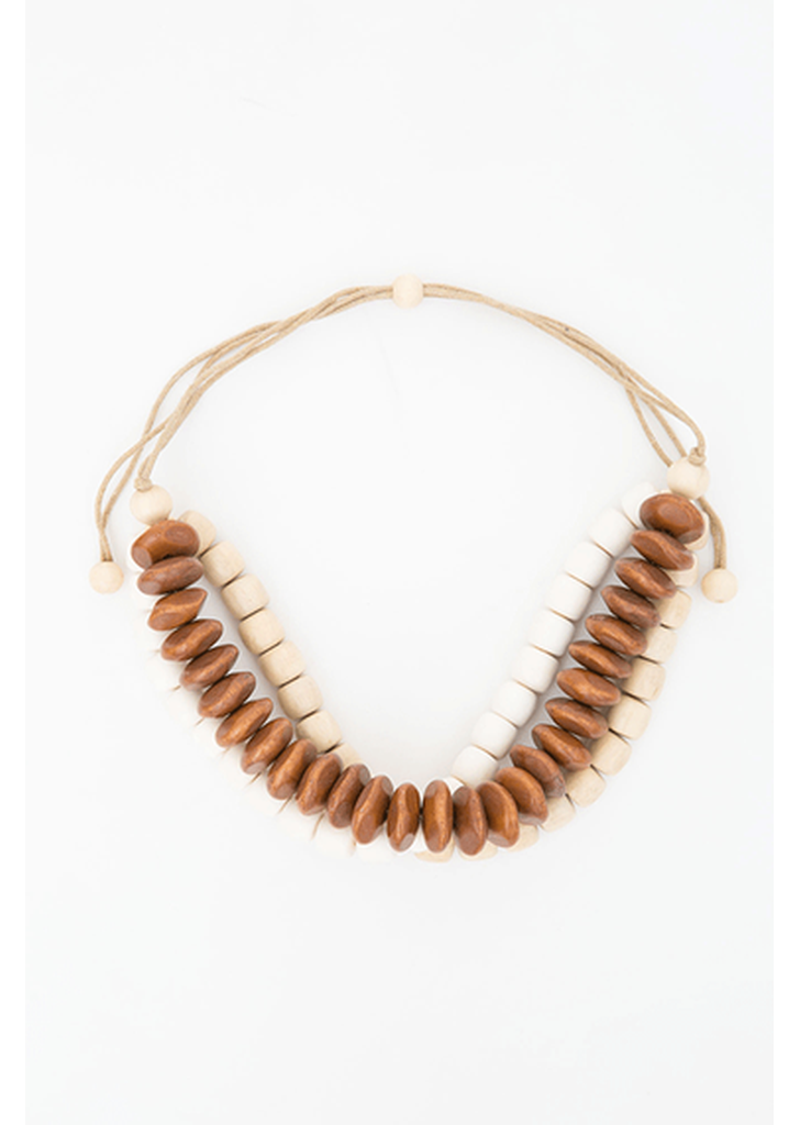 Waldorf Necklace - Tan Combo