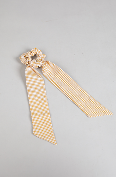 Sonny Hair Scarf in Yellow and White