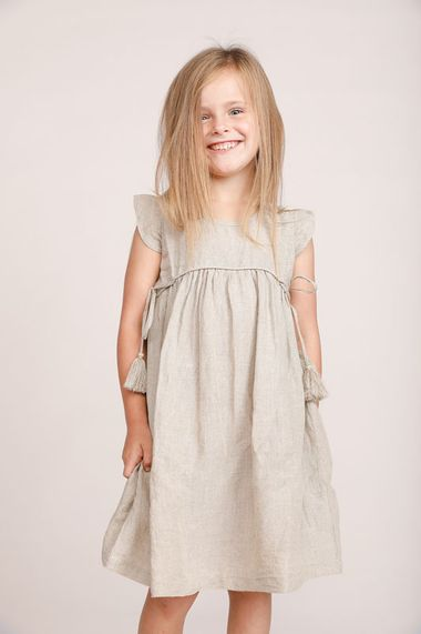 Daffodil Dress in Natural Linen