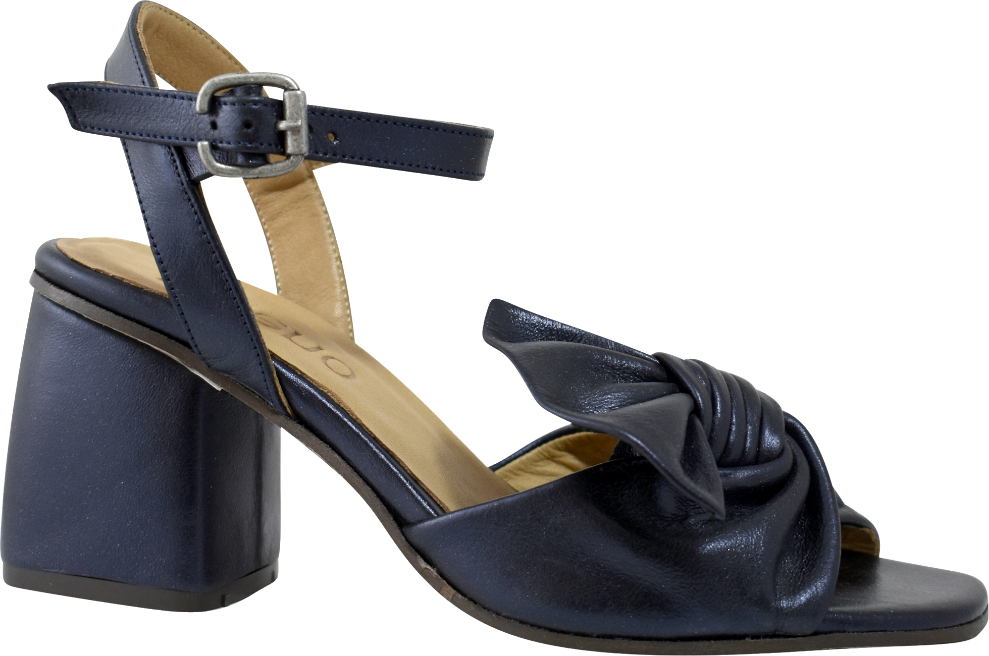Vinca Heel in Metallic Navy
