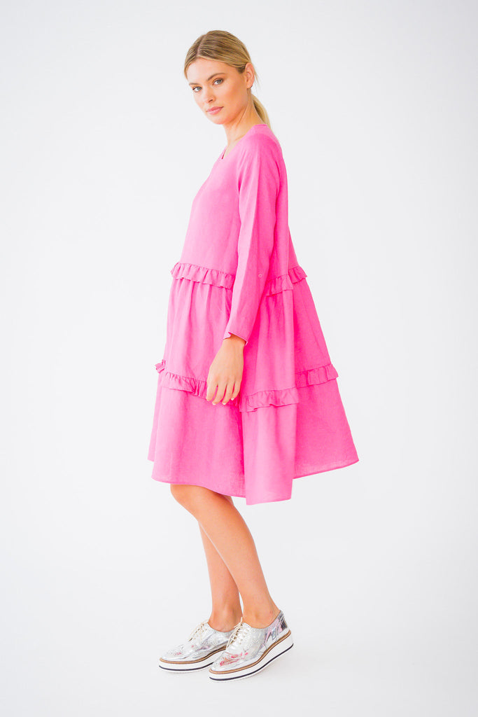 Toffee Dress in Pinky Pink
