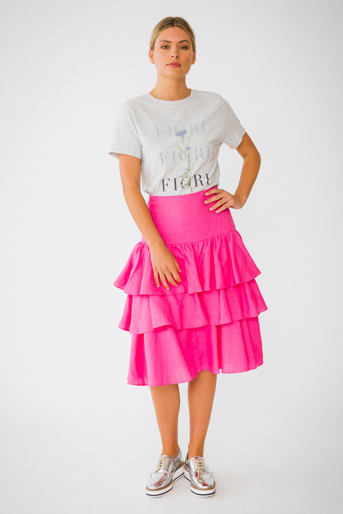Triple Salsa Skirt in Pinky Pink