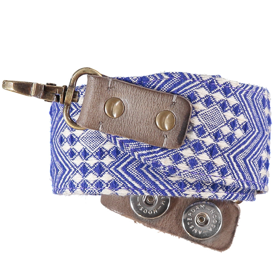 Roots Woven Fabric Strap - Blue/White
