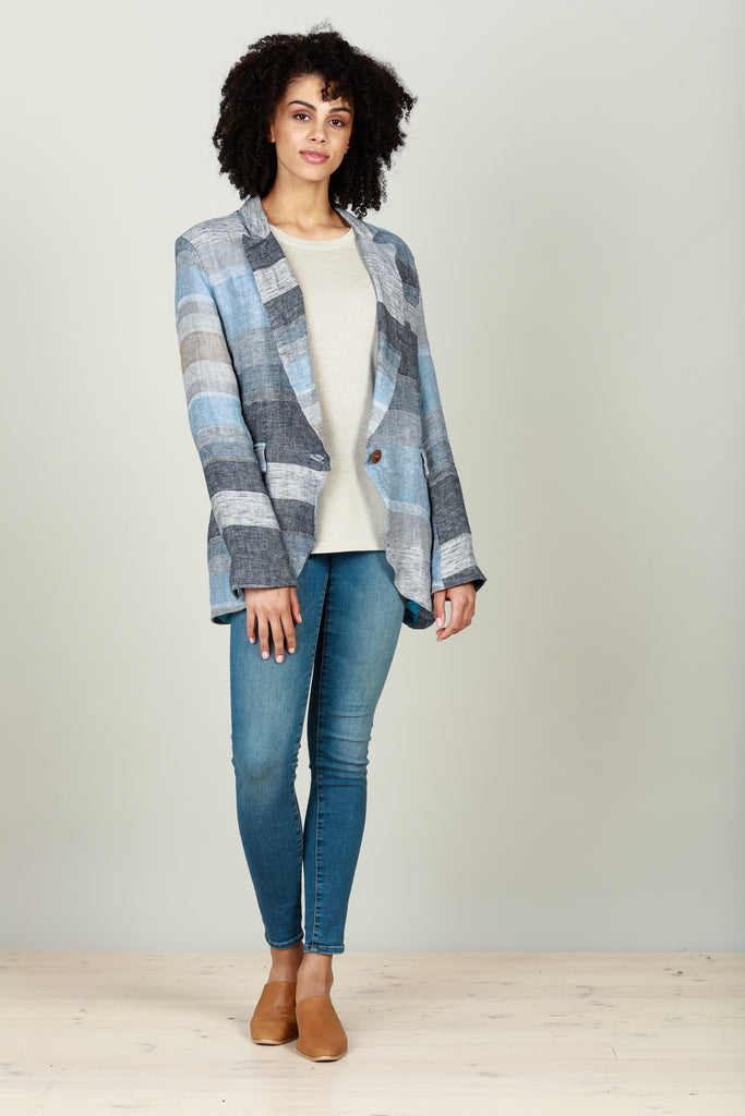 Asti Blazer in Blue Stripe