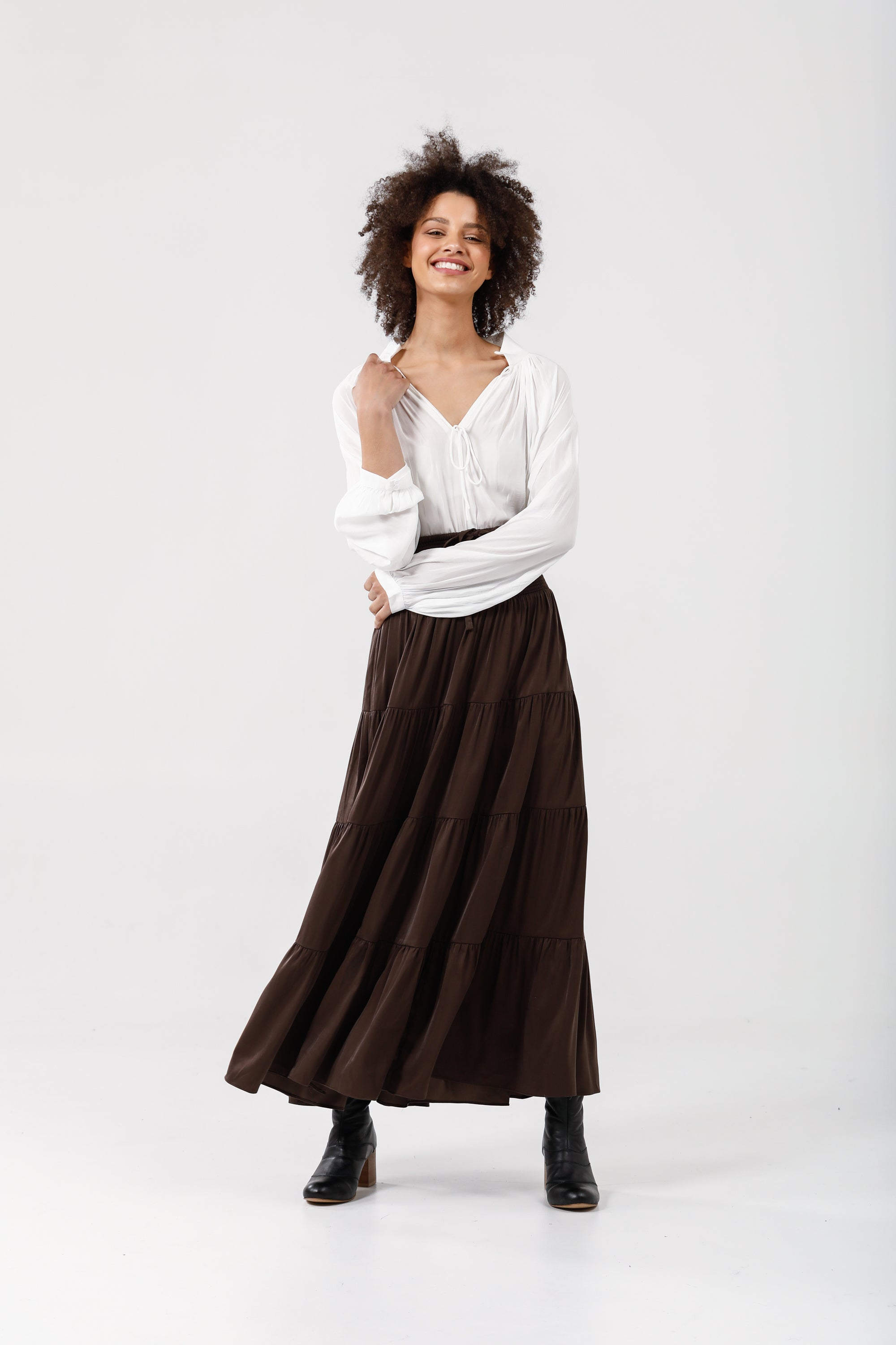 Greer Skirt in Umber