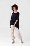 Reflection Top in Navy Tencel