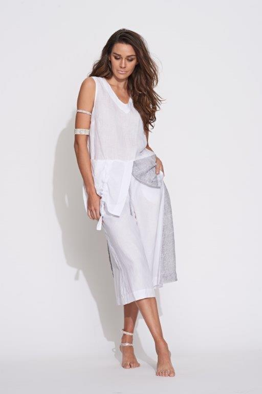 Contrast Culotte in Stone Honeycomb