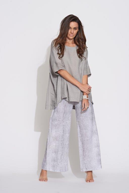 Classic Wide Leg Pant in Stone Loops