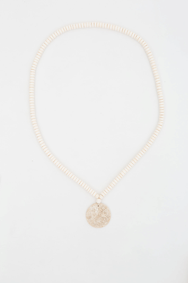 Jersey Circle Necklace - White