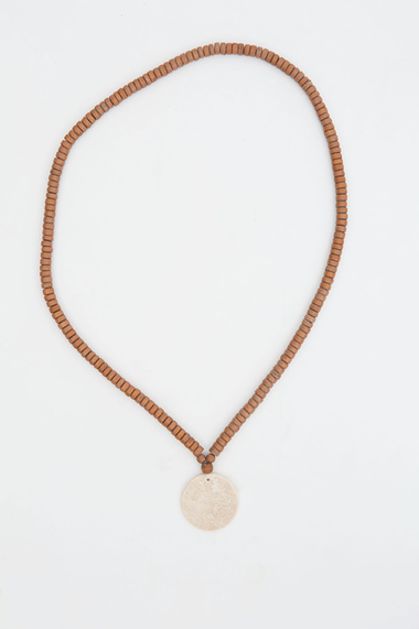 Jersey Circle Necklace - Tan