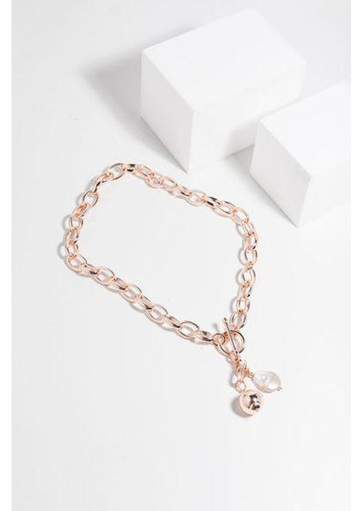 Helena Necklace in Rose Gold