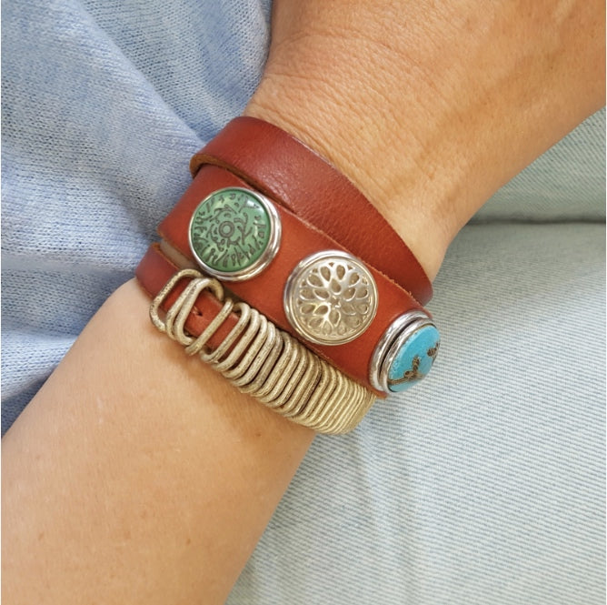 Nivkh Double Wrap Bracelet - Tan