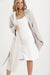 Natural Linen Viscose Robe