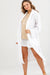 White Linen Viscose Robe