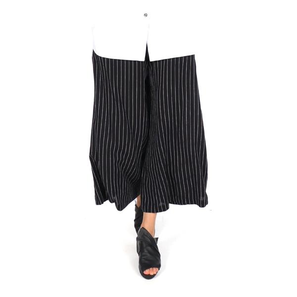 4515Yoshi Pants in Black/White Stripe