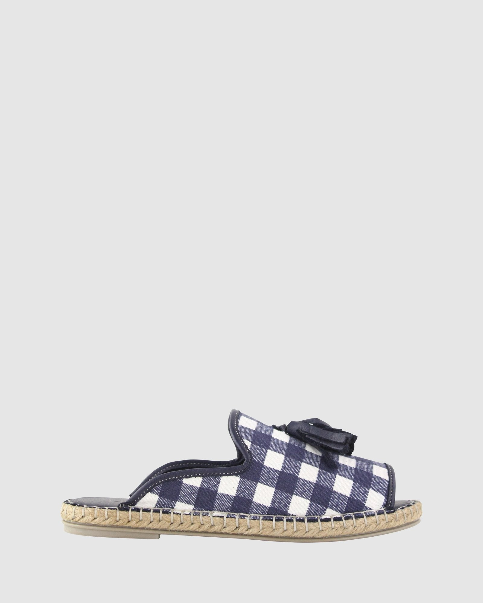 Kind Slide in Navy Gingham