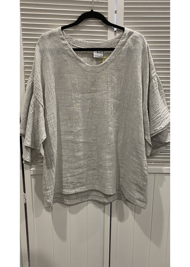 New Years Eve Blouse in Silver