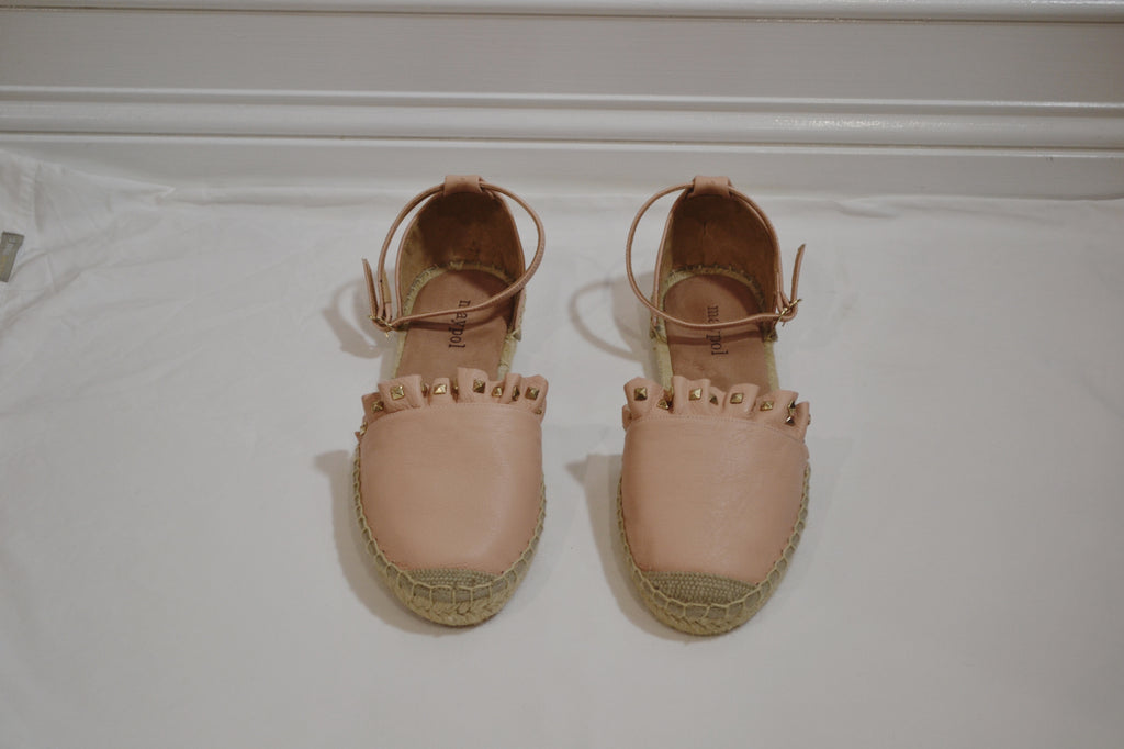 Stud Espadrilles in Powder Pink